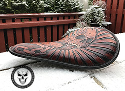 Chopper leather seat